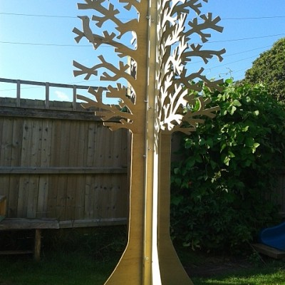 Plywood Tree for I Knit London